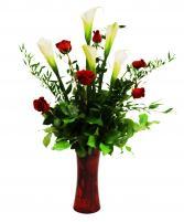 Rose & Calla Lilies
