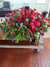 Rose & Carnation Tribute Casket Spray