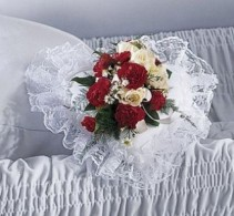 Heart Casket Pillow Square Casket Pillow available (assorted colors)