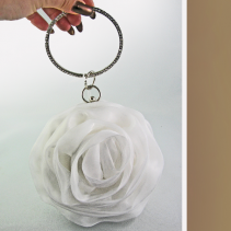 Rose Clutch White Wedding