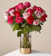 Rose Colored Love Bouquet Valentine's Day