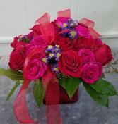 Rose Cube Arrangement Roses