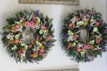 Rose Dried Flower Wreath Priced Per Wreath