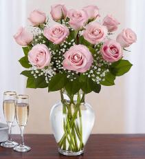 Rose Elegance Dozen Pink Roses