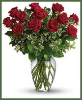Rose Elegance Premium 1 Dozen Long Stem Red Roses Item  #161737S