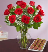 Rose Elegance™ with Strawberries