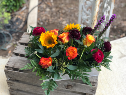 Rose Flower Box Arrangement