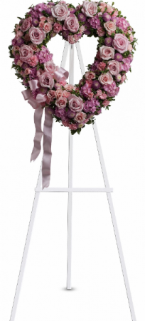 "Rose Garden 18"" Heart Easel Spray"