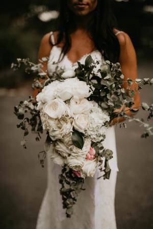 rose garden cascading bouquet bouquet