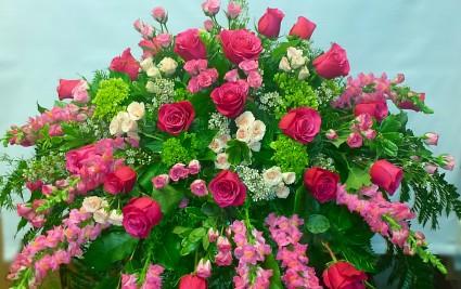 Rose Garden Casket  Casket floral spray