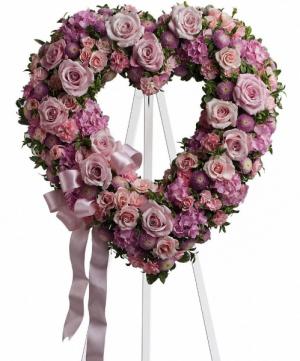 ROSE GARDEN HEART  in Fort Lauderdale, FL | ENCHANTMENT FLORIST