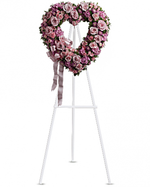 Rose Garden Heart  Funeral Wreath in Sutton, MA | POSIES 'N PRESENTS