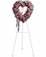 Rose Garden Heart Funeral Arrangement