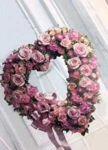 Rose Garden Heart standing spray