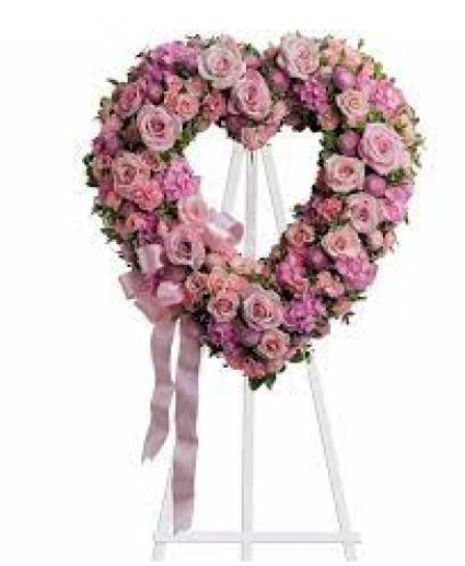 Rose Garden Heart Funeral Standing Spray