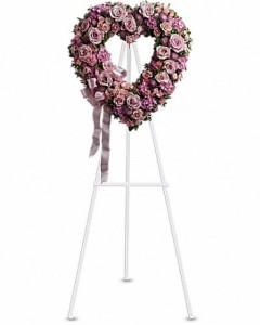 Rose Garden Heart Sympathy Arrangement