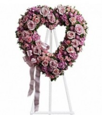 Rose Garden Heart Sympathy