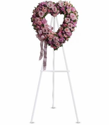 Rose Garden Heart Wreath T238-2A