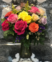 Rose Garden Vase Arrangement