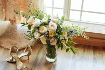 Rose Garden Wedding Bouquet