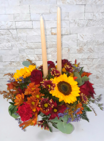 Rose Garden's Holiday Glow Candle Centerpiece
