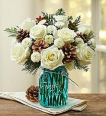 Rose Garden's Snowy Day Bouquet