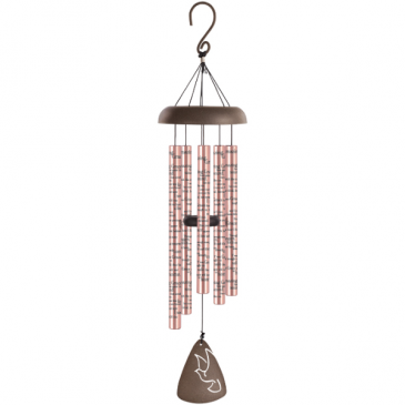"""Rose Gold Amazing Grace 30"""" Wind Chime"""