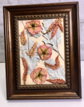 Rose Gold Hues  Framed Dried Flower Art