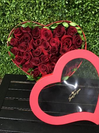 Rose Heart Box Roses