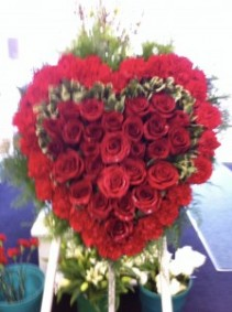 rose heart funeral eagle spray