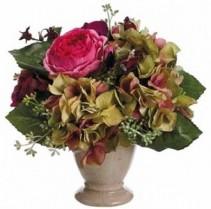 Rose & Hydrangea Bouquet-SILK BOTANICAL