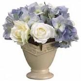Rose & Hydrangea Centerpiece-SILK BOTANICAL