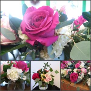 Rose Hydrangea Cutie Vase in Norway, ME | Green Gardens Florist & Gift Shop