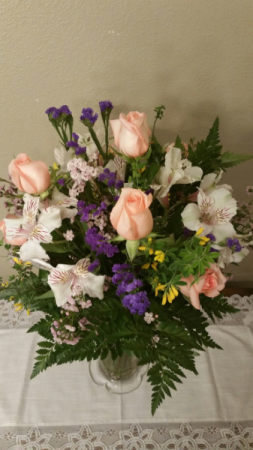 Rose & Lily / Splash of Color Sympathy Arrangement