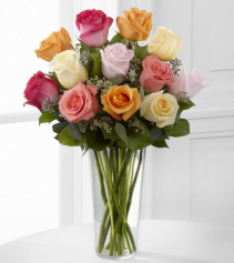 Rose Lovers Mixed Bouquet 1 dozen Mixed roses