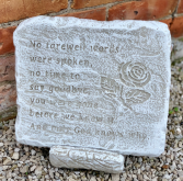 Rose No Farewell Words Stone