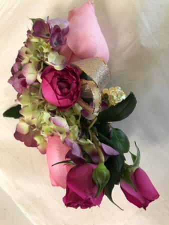 Rose on Hydro Corsage/Wristlet