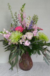 Rose Pink Bubble Vase