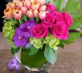 ROSE PINK LOVE ELEGANT MIXTURE OF FLOWERS