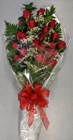 Rose Presentation Bouquet Wrapped Cut Flower Bouquet in Troy, MI   DELLA'S MAPLE LANE FLORIST