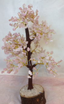 Rose Quartz Chip Tree Gift
