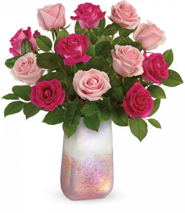 Rose Quartz Kisses Bouquet Fresh Arrangement