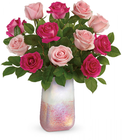 Rose Quartz Kisses Bouquet Fresh Arrangement