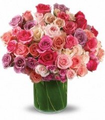Rose Rapture Bouquet Vase Arrangement