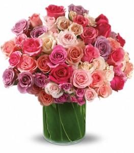 Rose Rapture Bouquet Vase Arrangement