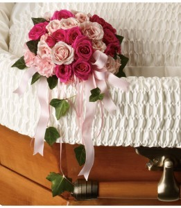 Rose Reflection Casket Insert Casket Flowers