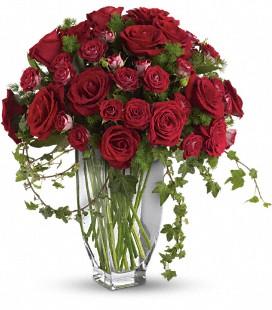Rose Romanesque Bouquet Vase Arrangement