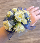 Rose Silver Glitter  Wristlet