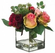Rose & Skimmia Bouquet-SILK BOTANICAL