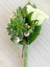 Rose & Succulent Boutonniere